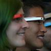 Verre Google - regarder à travers la vitre et dire prototype de revoir, bonjour branchitude