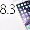 Ios batterie 8.3 de mise à jour, id et clavier problèmes tactiles