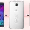Iphone 6 plus vs Samsung Galaxy Note 4 vs Google Nexus 6 - 2015 géants comparés
