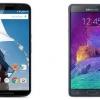 Nexus 6 vs Samsung Galaxy Note 4 - la guerre des phablets android est pas terminée
