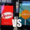 Android 5.0 vs Android 4.4 sucette kitkat - les principales différences et avantages