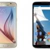 Nexus 6 vs Samsung Galaxy S6 - verre et de métal ou de plastique?