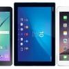 Samsung galaxy tab S2 vs iPad 2 vs air z4 xperia - meilleure épreuve de force de la tablette