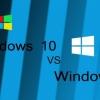Windows 10 vs Windows 8 - top caractéristiques, le prix et la comparaison des performances