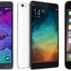 Xiaomi mi noter pro vs iphone 6 plus vs Galaxy Note 4 - le nouveau challenger de l'arène
