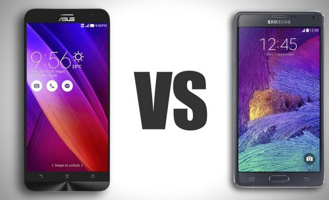 Asus Zenfone 2 Vs Samsung Galaxy Note 4