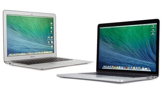Photographie - Macbook vs vs MacBook Air MacBook Pro - moins cher ordinateur portable de pomme coûte $ 899